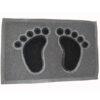 Grass foot print mat