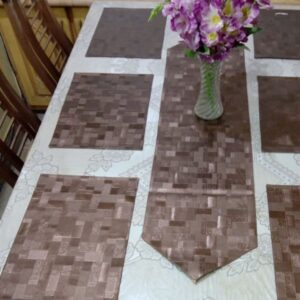 leather fabric table runner pakistan