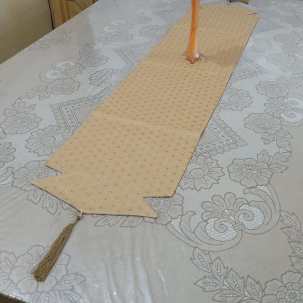 leather fabric table runner price