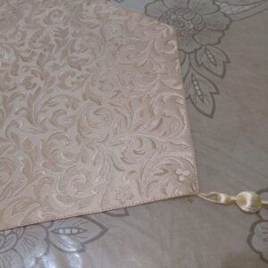 table runner leather faric