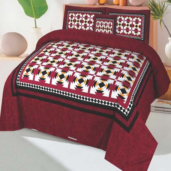 3PC BED SHEET-DES-101