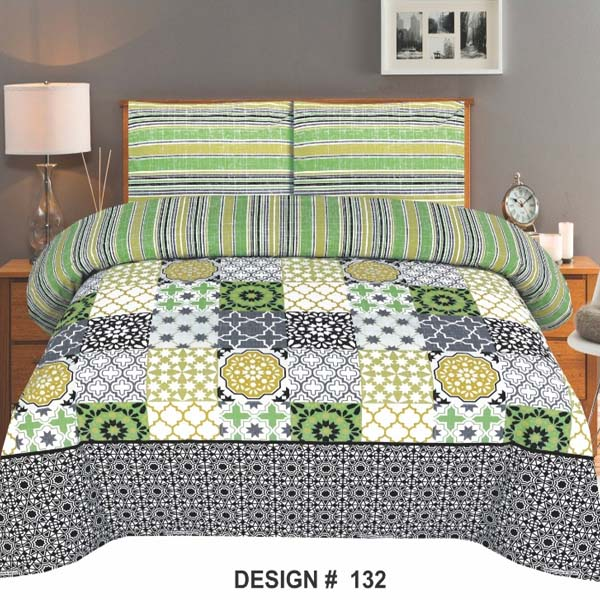 3PC BED SHEET-DES-132