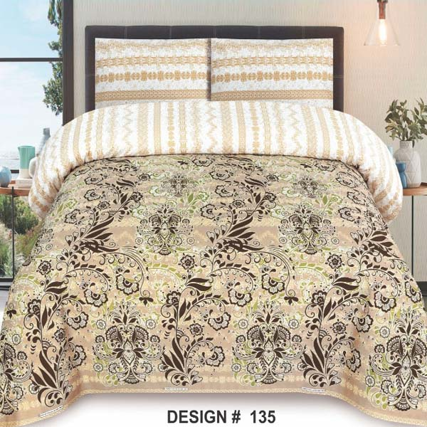 3PC BED SHEET-DES-135