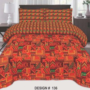 3PC BED SHEET-DES-136