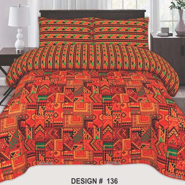 3PC BED SHEET-DES-136
