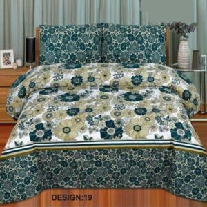 3PC BED SHEET-DES-19