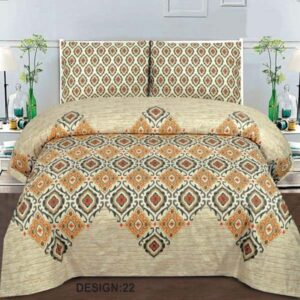 3PC BED SHEET-DES-22