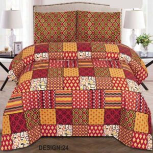 3PC BED SHEET-DES-24