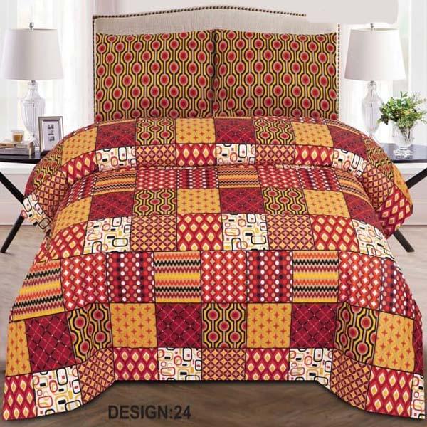 3PC BED SHEET-DES-24