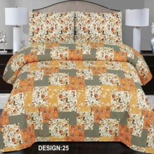 3PC BED SHEET-DES-25