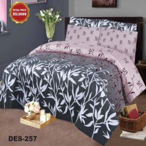 3PC BED SHEET-DES-257