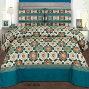 3PC BED SHEET-DES-26