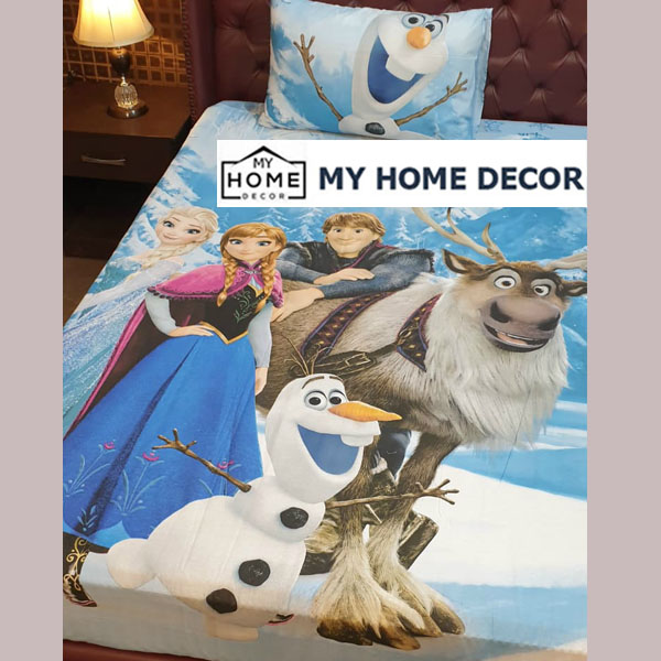 Frozen Movie Themed Cotton Bed Sheet