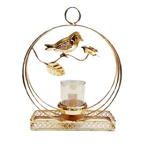 Golden Sparrow Candle Holder