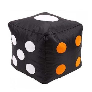LUDO DICE STOOL BEAN BAG black