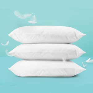 White Pillow Pack of 3 (Ball Fiber )