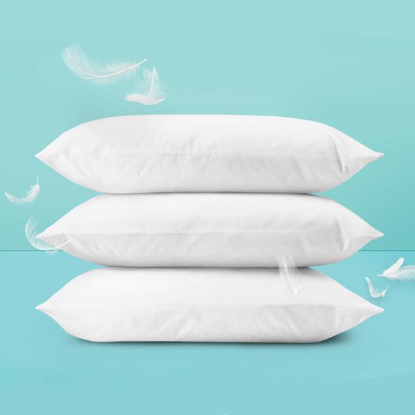 White Pillow Pack of 3 (Ball Fiber )