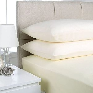 RICH COTTON FITTED SHEET -OFF WHITE