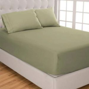 RICH COTTON FITTED SHEET -OLIVE GREEN