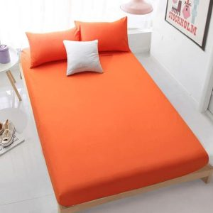 RICH COTTON FITTED SHEET - ORANGE