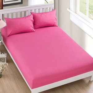 RICH COTTON FITTED SHEET - PINK