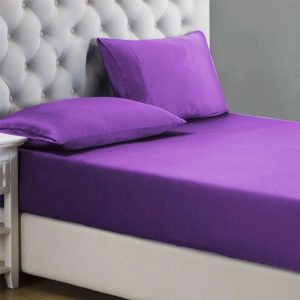 RICH COTTON FITTED SHEET - VIOLET