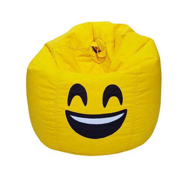SMILEY FACE BEAN BAG yellow