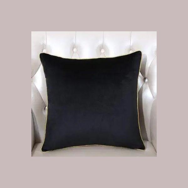cushion cover plain black