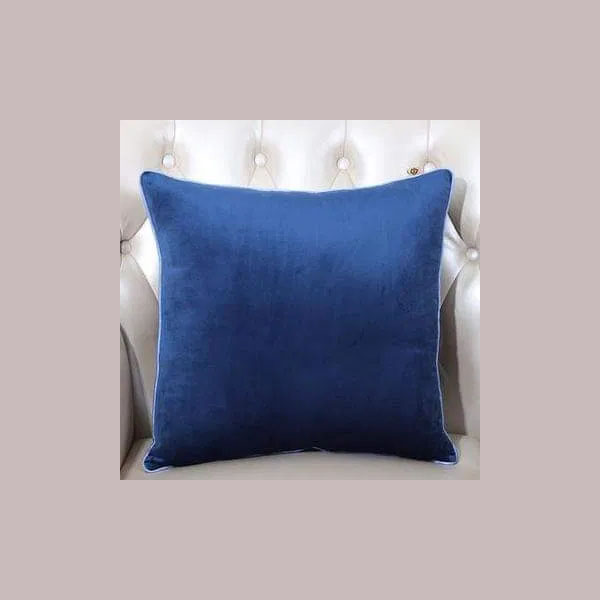 cushion cover plain dark blue