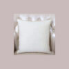 cushion cover plain white