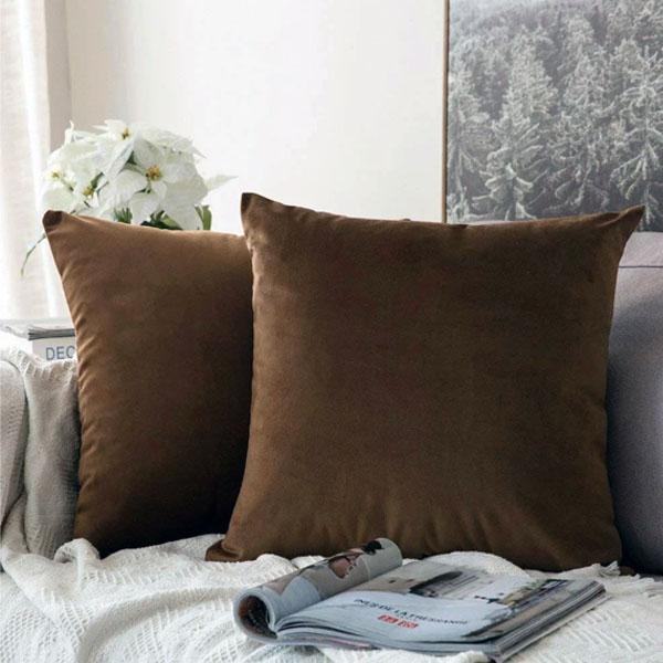 cushion cover walnut