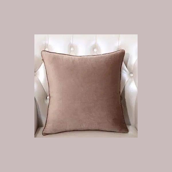 cushion plain brown