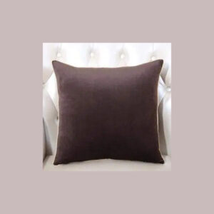 cushion cover plain dark brown