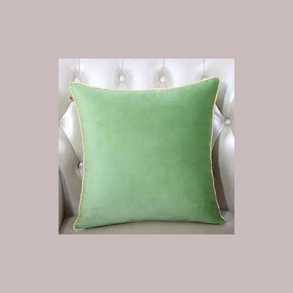 cushion plain green