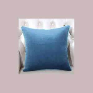 cushion plain light blue