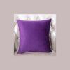 cushion plain purple