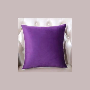 cushion plain purple