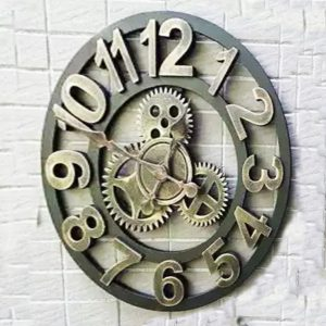 number wooden style clock 01