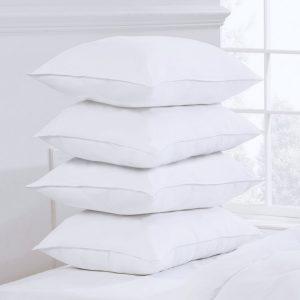White Pillow Pack of 4 (Ball Fiber )