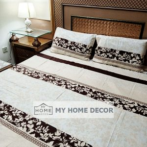 3PC Cotton Bed Sheet – B0016