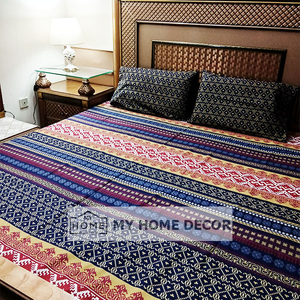 3PC Cotton Bed Sheet – B0017