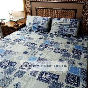 3PC Cotton Bed Sheet – B0018