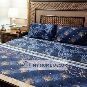 3PC Cotton Bed Sheet - B0013
