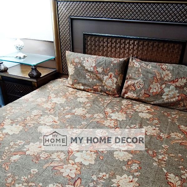 3PC Cotton Bed Sheet - B020