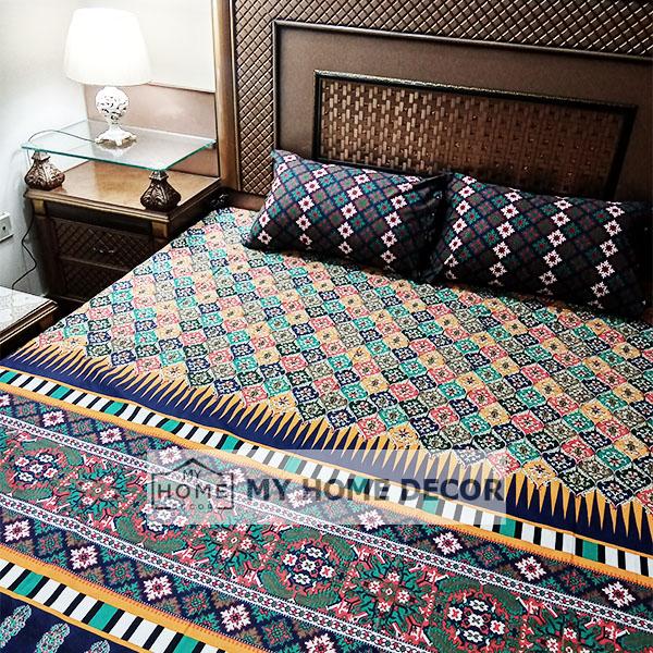 3PC Cotton Bedsheets – B012