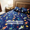 3PC Space Themed Cotton Kids Bed Sheets