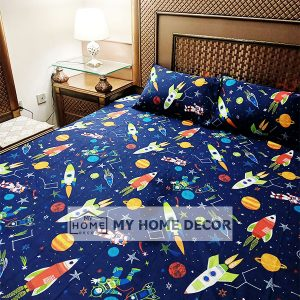 Space Themed Cotton Kids - Bedding Set