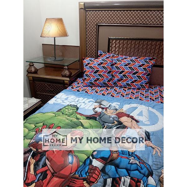 Avengers Themed Cartoon Bed Sheet