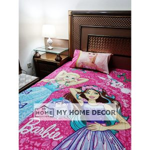 Barbie Themed Cotton Kids Bed Sheet-02
