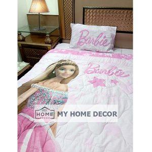 Barbie Themed Cartoon Bed Sheet